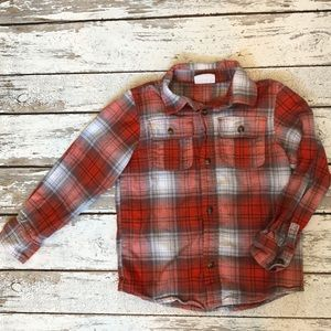 Crazy 8 Flannel shirt 5T